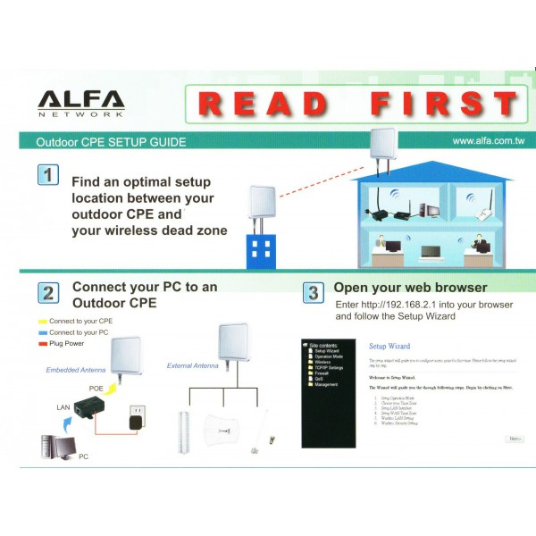 Point d 39 acc s cpe ext rieur solo nsr alfa network 2 4 ghz for Point acces wifi exterieur